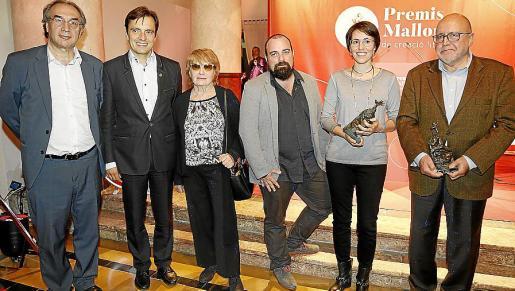 Martí March, Francesc Miralles, Maria Antònia Vicens, Pau Vadell, Eva Baltasar y Albert Fargas. Fotos: Teresa Ayuga