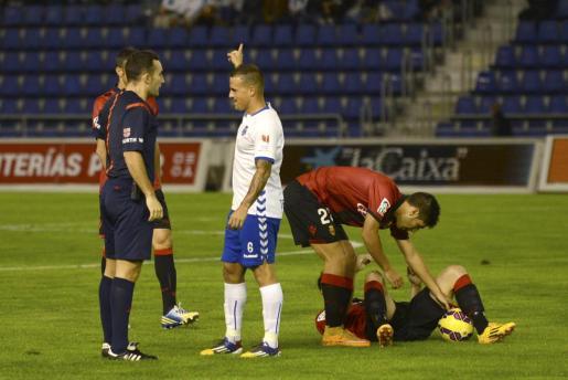 El jugador del Tenerife 'Vitolo', en un encuentro disputado contra el Mallorca.