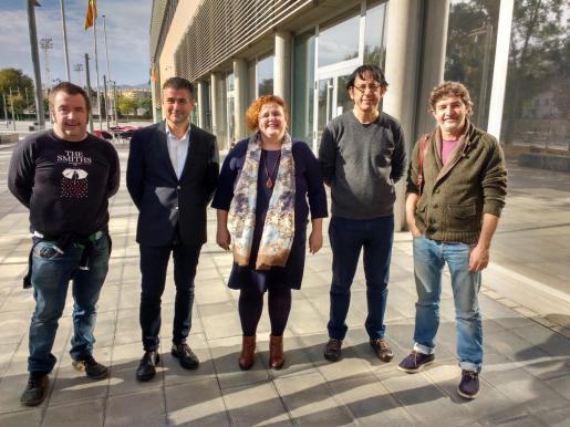 Pere Terrassa, Josep R. García, Ruth Mateu, Carles Molinet y Joan Porcel.