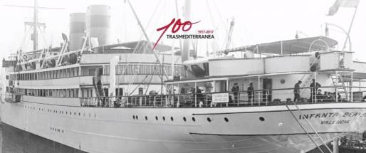 Uno de los buques históricos de la naviera, que aparece en un documento audiovisual editado con motivo del centenario de la constitución de la compañía.