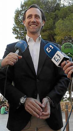 Bauzá, el día que anunció su candidatura. Foto: PERE BOTA