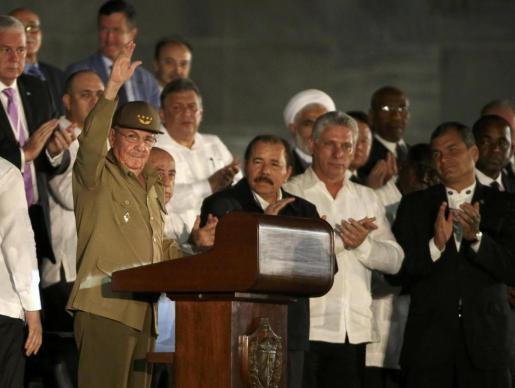 Raúl Castro, durante su parlamento.