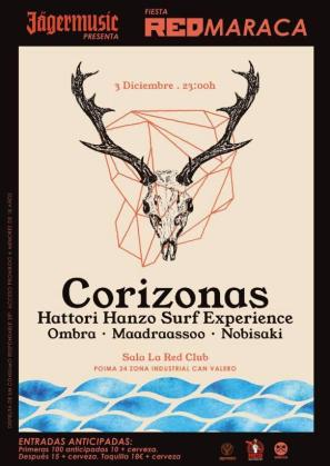 La fiesta RedMaraca reúne en La Red Club a Corizona, Hattori Hanzo Surf Experience y Ombra.