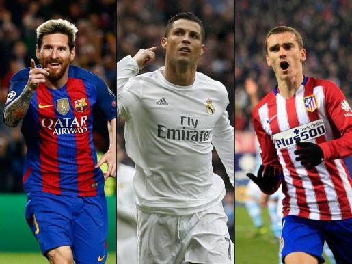 Leo Messi, Cristiano Ronaldo y Antoine Griezmann están entre los candidatos al mejor jugador de la FIFA 2016.