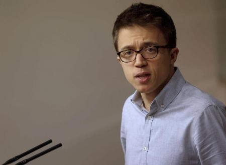 El portavoz de Unidos Podemos en la Cámara Baja, Íñigo Errejón, durante una rueda de prensa | Efe