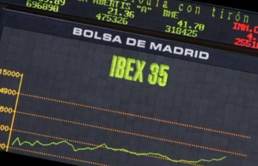 Ibex 35 en la bolsa de Madrid.