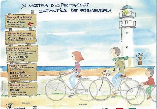 Cartel de la décima mostra de d'espectacles infantiles de Formentera.