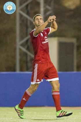 Un jugador de la UD Ibiza celebra un gol. Foto: TWITTER UD Ibiza