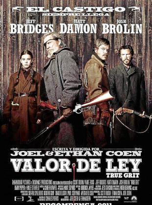 Cartel del film 'Valor de ley'.