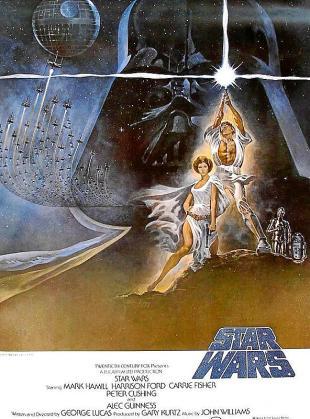 Cartel de la película 'Star Wars Episodio IV: Una nueva esperanza'.