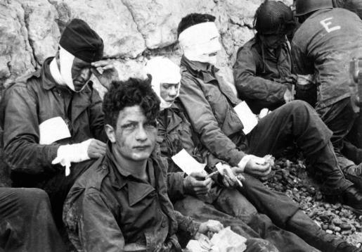 Imagen del desembarque de Normandía durante la II Guerra Mundial.