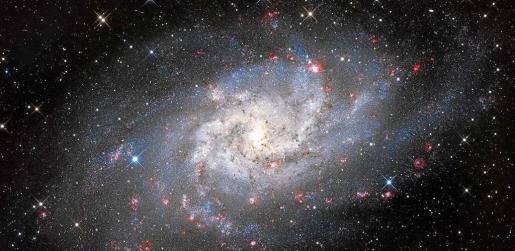 M33 galaxia, una imagen de Marco A.Yuste. Foto: AEE