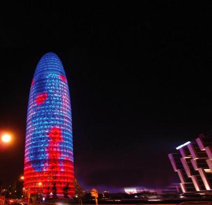 El emblemático edificio de la Torre Agbar de Barcelona.