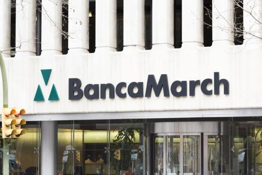 Imagen del edificio central de la Banca March en Palma.