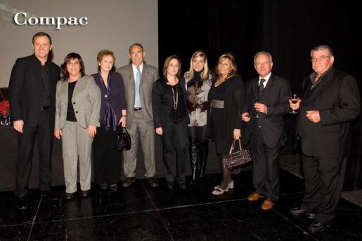 José Luis Zapatero, Margalida Valcaneras, Carmen Brines, Julian García, Mari Carmen Sanchis,Marita Pol, Marivi Calleja y Albert Costa.