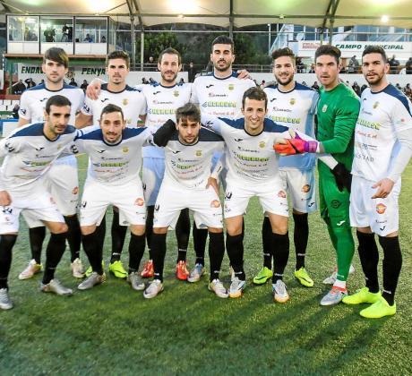 Equipo titular de la Peña Deportiva en el derbi que perdió contra el San Rafael hace una semana.