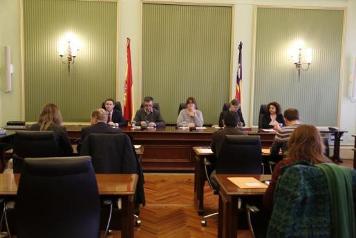 Imagen de la Junta de portavoces del Parlament para tratar nuevamente el asunto sobre la presidencia de la institución.