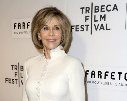 En la imagen, la actriz estadounidense, Jane Fonda.