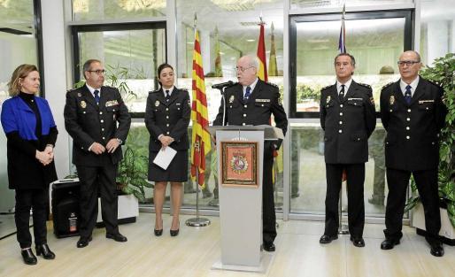 Imagen de la intervención de José Manuel Mariscal de Gante como nuevo comisario de Ibiza. Foto: DANIEL ESPINOSA