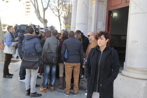 Marta Maicas, tras declarar ante el juez.