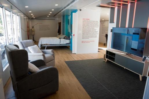 En la imagen, el interior de la casa inteligente de la Fundación ONCE.
