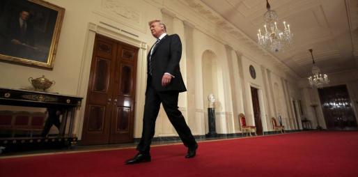 El presidente de Estados Unidos, Donald Trump, en la Casa Blanca.