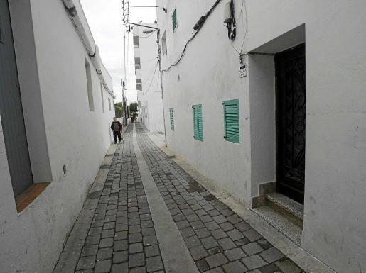 Imagen de la calle Modista Antònia Cala en Sant Antoni. Foto: DANIEL ESPINOSA