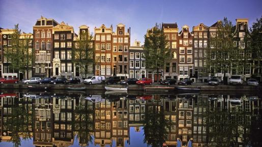 Vista general de viviendas en la capital holandesa.