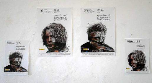 Los carteles de la campaña 'Quan fas mal al patrimoni ens fas mal a tots'