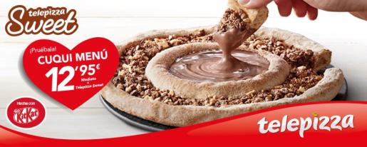En la imagen, la pizza de KitKat de Telepizza.