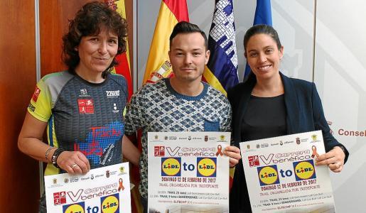 Presentación del evento de este fin de semana, celebrada ayer en el Consell d'Eivissa con la presencia de Fernando Gómez, Ana Ribas y Fátima Blázquez.