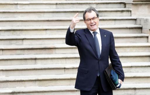 El expresidente de la Generalitat Artur Mas abandona el TSJC durante un receso en la última jornada del juicio del 9N.