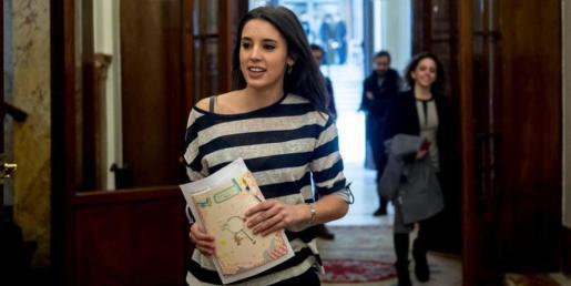Irene Montero, jefa de gabinete de Pablo Iglesias y portavoz adjunta de Podemos en el Congreso.