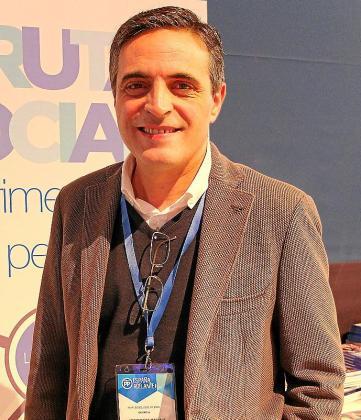 Marí Boso, presidente del PP de Ibiza, ayer, en el Congreso Nacional.