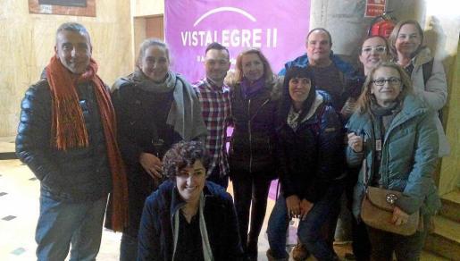 Foto de familia de la delegación pitiusa que acudió al congreso de Podemos en Madrid.