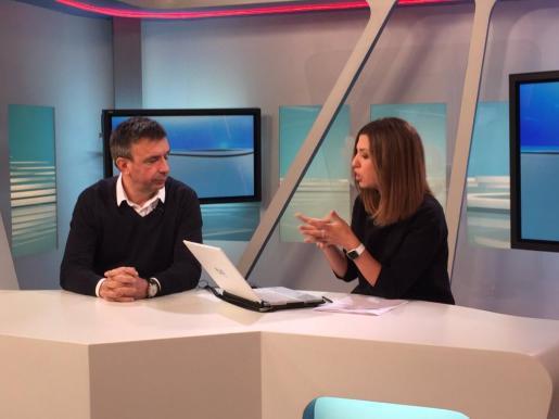 El presidente del PP en las Islas, Miquel Vidal, durante una entrevista este lunes en RTVE de Balears.
