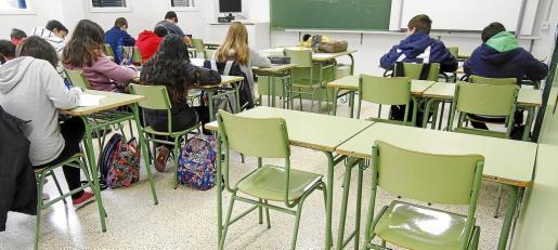 Imagen de archivo de un aula de Enseñanza Secundaria de Baleares.
