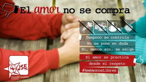 Imagen compartida en las redes sociales por la organización de jóvenes del PSOE.