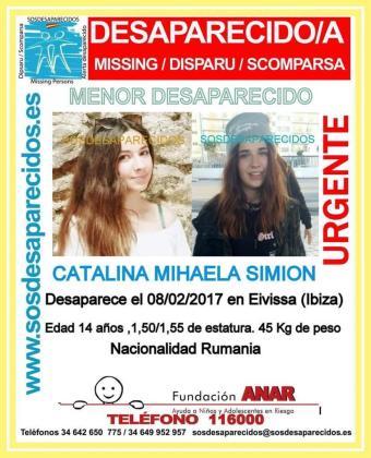 La asociación SOSD esaparecidos y la Guardia Civil habían difundido fotos de la menor.