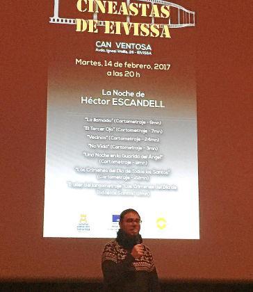 Una imagen de Héctor Escandell, ayer en Can Ventosa.
