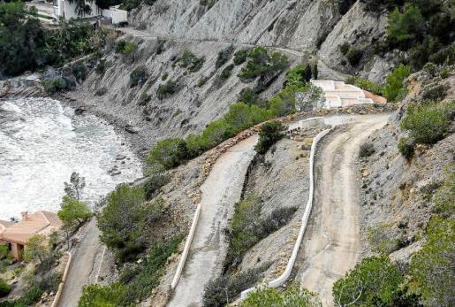 Imagen de la zona donde se reproducen los desprendimientos cada vez que se registra un episodio de lluvias. Foto: TONI ESCOBAR