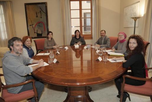 Los ecologistas, encabezados por Tonina Siquier, se entrevistaron con Francina Armengol y Biel Barceló.