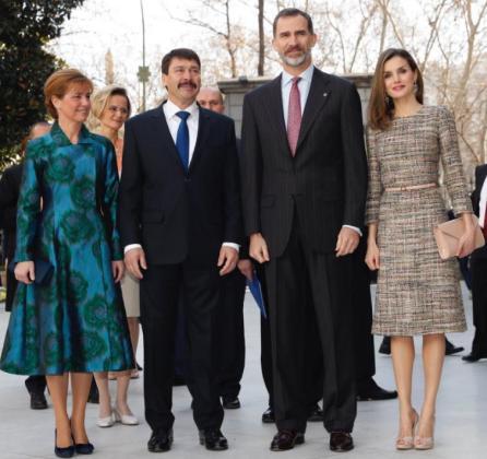 Los Reyes se encontraban en la inauguración de 'Obras maestras de Budapest' del Museo Thyssen-Bornemisza cuando se ha dado a conocer la sentencia del 'caso Nóos'.