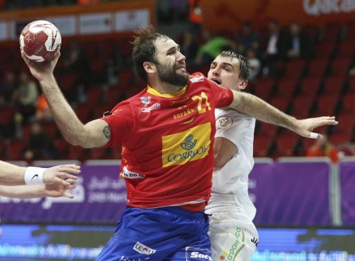 El central de la selección española de balonmano, Joan Cañellas, en una imagen de archivo.