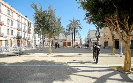 Estado actual de la plaza del Parc.