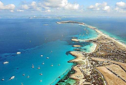 El Pas des Trucadors separa Formentera de s'Espalmador.
