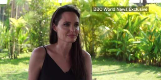 Angelina Jolie, durante la entrevista.