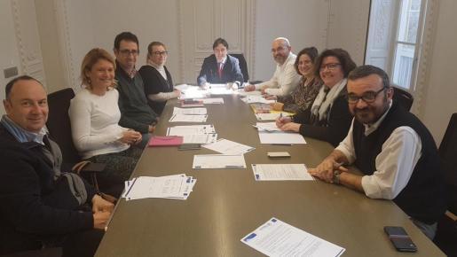 Primera reunión del Comité Organizador del 15 Congreso Regional del PP Balears y los coordinadores de las ponencias.
