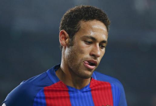 Imagen del atacante del FC Barcelona Neymar durante el partido de este domingo ante el Leganés (2-1) en el Camp Nou.