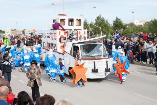 Imagen de archivo de la rúa del Carnaval de Formentera del año pasado.